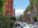 Diese Hochhäuser waren eben schon von weiten zu sehen - aus der Nähe wirken sie auch nicht schöner. Aber immerhin ist die Avenida Melchor Luz schön begrünt.