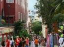 Hier sind wir mitten im Haupt-Touristen-Strom auf der Calle Quintana. Dieses Foto zeigt die Straße vor der Sanierung.