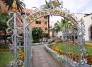 An der Qualle Quintana gibt es auch malerische Plätze mit malerischen Springbrunnen.