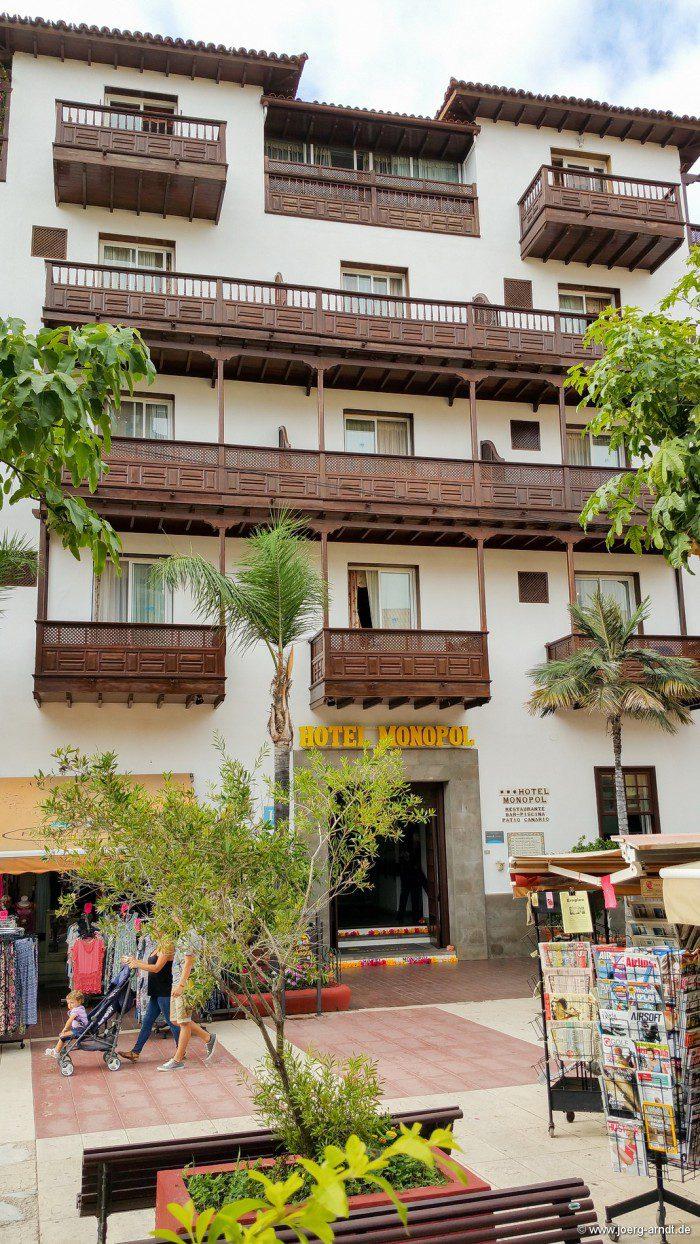 Das Hotel Monopol in Puerto de la Cruz.