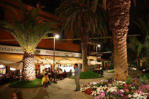 Abendliche Eindrücke von der Plaza Benito Pérez Galdos.