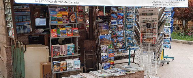 Ein Kiosk in Puerto de la Cruz