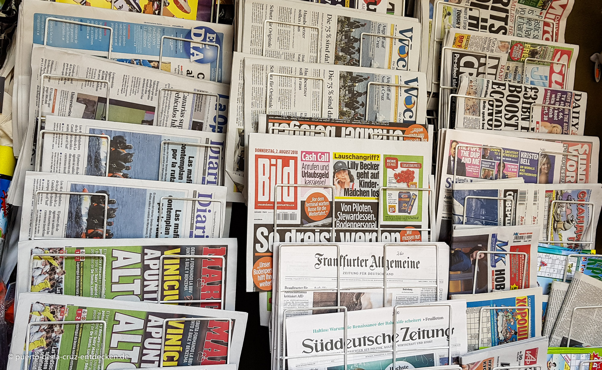 Zeitungs-Stand in Puerto de la Cruz